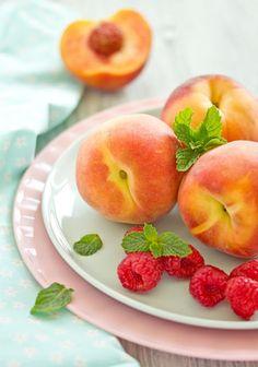 peach, raspberry