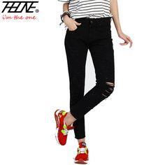$16.18 (Buy here: https://alitems.com/g/1e8d114494ebda23ff8b16525dc3e8/?i=5&ulp=https%3A%2F%2Fwww.aliexpress.com%2Fitem%2FI-M-THEONE-Summer-Boyfriend-Women-High-Waist-Jeans-Plus-Size-Holes-Ripped-Jeans-Femme-Denim%2F1000001147292.html ) I'M THEONE Summer Boyfriend Women High Waist Jeans Plus Size Holes Ripped Jeans Femme Denim Pencil Pants Casual Trousers Black for just $16.18