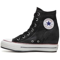 Converse Chuck Taylor All Star High-Top Wedge Sneaker - Womens | DSW (3.260 RUB) ❤ liked on Polyvore featuring shoes, sneakers, converse high tops, wedge sneakers, wedged sneakers, high top shoes and wedge trainers