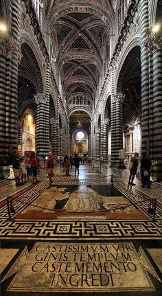 Duomo (Siena Cathedral) ~ Siena, Italy. Its grandeur is unbelievable no matter how many times you walk.