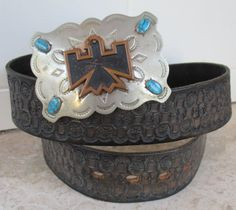 Vintage Bell Nickel Silver & Turquoise by retrosideshow on Etsy