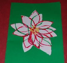 Cardboard Tube Printed Poinsettia Crafts for Kids to Make!