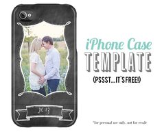 free iPhone case template for Photoshop