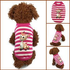 1pcs New Cute Cartoon Stripe Puppy Sweater Baby Pet Clothes Teacup Dogs Clothing