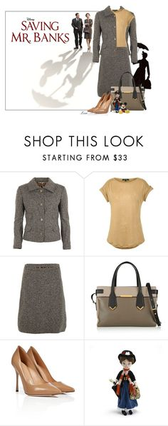 """""""Saving Mr Banks"""" by lmm2nd ❤ liked on Polyvore featuring Dolce&Gabbana, Lauren Ralph Lauren, Marc by Marc Jacobs, Sergio Rossi, Disney, disney, marypoppins and polyvoreeditorial"""