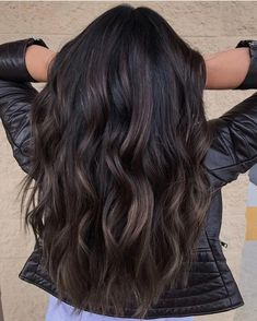 Long Wavy Ash-Brown Balayage - 20 Light Brown Hair Color Ideas for Your New Look - The Trending Hairstyle Ombre Hair Color, Hair Color For Black Hair, Brown Hair Colors, Fall Hair Color For Brunettes, Hot Hair Colors, Brown Blonde Hair, Light Brown Hair, Black Brown Hair, Dark Brown Hair With Low Lights