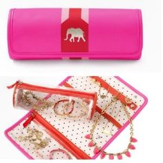 Stella & Dot Roll With It Stella & Dot Roll With It in hot pink/poppy. New. Never used Stella & Dot Bags Travel Bags