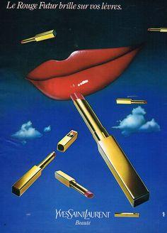 PUBLICITE 1980 YVES SAINT LAURENT cosmétiques