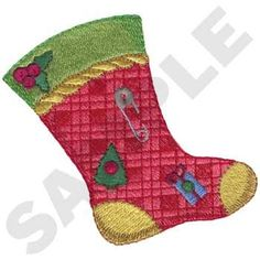 Christmas Stocking Embroidery Design | AnnTheGran