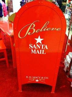santa mailbox at every macy's. precious.