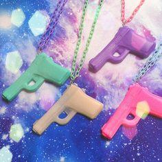 Necklace https://www.etsy.com/de/listing/175263935/pastel-goth-pistol-necklace-soft-grunge