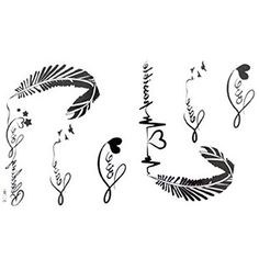 GGSELL The New release tattoo stickers waterproof female black and white letters of the alphabet ECG feather fake tattoos King Horse http://www.amazon.com/dp/B009BNL9HA/ref=cm_sw_r_pi_dp_a5qyvb0EZN00W