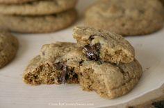 Whole Wheat Chocolate Chip Cookies   CrunchyCreamySweet.com