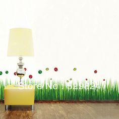 Aliexpress.com : Buy Grass Blue measure 135cm/pcs skirting line wall stickers /kids wall stickers decorative painting background wallpaper, WS 32 from Reliable skirting line wall stickers suppliers on SW-STAR Rainbow Home $6.59