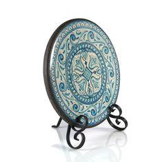 """Blu Barocco""  .Medallions on hammered iron / Медальоны на Кованых Подставках"