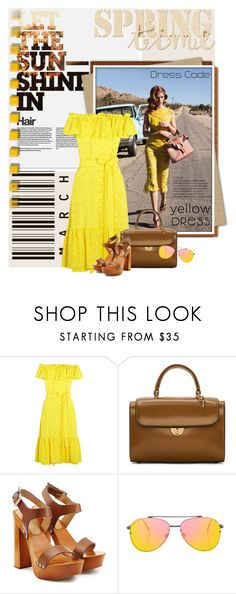 """""""Yellow Dresses"""" by lacas ❤ liked on Polyvore featuring Nicole Trunfio, Lisa Marie Fernandez, Maison Margiela, Dsquared2, 7 For All Mankind, Topshop and yellowdress"""