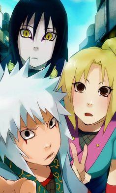 Orochimaru,Tsunade y Jiraya-Anime-Naruto-Naruto Shippuden-Dibujo Otaku Anime, Anime Naruto, Manga Anime, Naruto Cute, Naruto Shippuden Sasuke, Jiraiya And Tsunade, Lady Tsunade, Kakashi, Naruto Shikamaru Temari