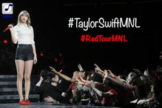 Pin to Win (TWO) free Taylor Swift Red Tour Concert Tickets in Manila. Taylor Swift Rot, Taylor Swift Red Tour, Taylor Swift Concert, All About Taylor Swift, Taylor Alison Swift, Swift 3, One Direction Art, Events Place, Need To Meet