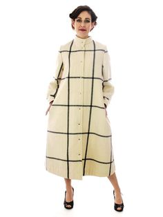 SALE Iconic Vintage 1970s Cream Coat / by BestVintageEver on Etsy