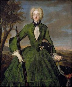 1710 Electoral Princess Amalia Maria Josepha of Bavaria by Franz Joseph Winter
