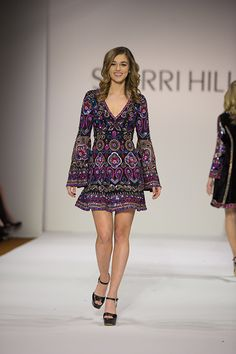 Love this bohemian styled dress by Sherri Hill!