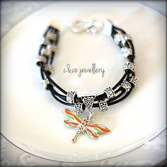 Bracelet with dragonfly