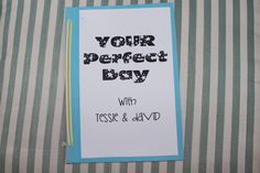 """A creative, memorable NON-TOY gift idea from Lighting the World on Fire: """"your perfect day"""" gift idea"""