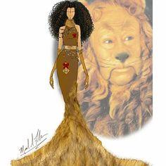 Michael Anthony - The Wizard of Oz The Cowardly Lion Disney Princess Fashion, Disney Princess Dresses, Disney Outfits, Disney Style, Courage The Cowardly Dog, Cowardly Lion, Lion Design, Disney Designs, Fandom Fashion