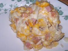 Cheesy Chicken Cordon Bleu Casserole with Rice