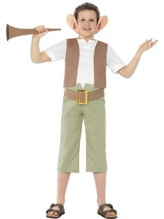 Kids Licensed Roald Dahl BFG Boys World Book Week Fancy Dress Costume Outfit