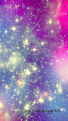Purple sparkle galaxy wallpaper I created for the app CocoPPa