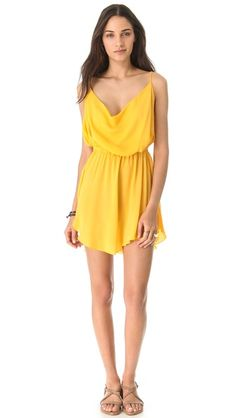 Perfect for a date night with Collin in the summer!  Indah Tahani Cowl Dress