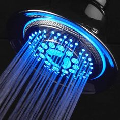 DreamSpa All Chrome Water Temperature Controlled Color Changing LED Shower-Head by Top Brand Manufacturer! Color of LED lights changes automatically according to water temperature >>> Read more at the image link. Best Rain Shower Head, Led Shower Head, Cool Shower Heads, Shower Head Reviews, Steam Showers Bathroom, Shower Bathroom, Kohler Shower, Chrome Colour, Lumiere Led