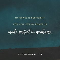 II Corinthians 12:9 God's promises