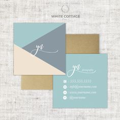 A personal favorite from my Etsy shop https://www.etsy.com/listing/268485252/square-double-sided-calling-card-design