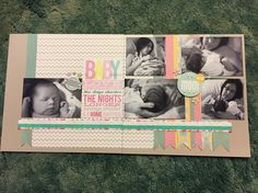 Ctmh Georgie newborn baby hospital scrapbook layout