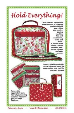 Patterns and supplies for quilters and fabric lovers: Shop | Category: Patterns by Annie | Product: Hold Everything!