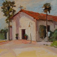 "'Soledad Mission"" California, plein air painting by Robin Weiss California Art, Fine Art Gallery, Art For Sale, Landscape Paintings, Really Cool Stuff, Original Paintings, Robin, Wallpaper, Buildings"