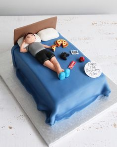 Bespoke cakes and cupcakes to make any children's birthday extra special. 18th Birthday Cake For Guys, Boys 18th Birthday Cake, Funny Birthday Cakes, Teenager Birthday, Birthday Cakes For Teens, 13th Birthday, Husband Birthday Cake, Special Birthday, Diy Birthday
