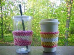 10 Tips for Eco-friendly #Crochet @becraftsy - cup cozy pattern by hooraycrochet
