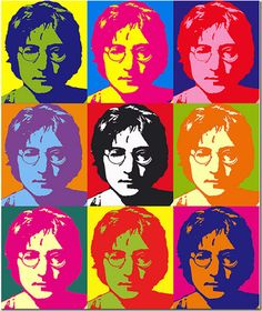 John Lennon by Andy Warhol. Warhol was a leading figure in the contemporary visual art movement known as pop art.