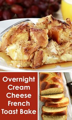 Overnight Cream Cheese French Toast Bake is the perfect casserole dish for a make ahead breakfast. Serve up for overnight guests, school breakfast or holidays. Always a great recipe that everyone loves!