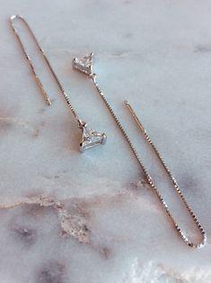 Threader Earrings – Minimalist Earrings – Silver Chain Earrings – Drop Earrings – Dainty Earrings – Simple Earrings – Gift for Her 56 – hoopearrings Bar Stud Earrings, Dainty Earrings, Moon Earrings, Simple Earrings, Chain Earrings, Silver Hoop Earrings, Heart Earrings, Crystal Earrings, Silver Jewelry