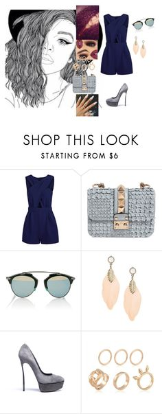 """""""Love Runs Out #OneRepublic"""" by diane-ds ❤ liked on Polyvore featuring Valentino, Christian Dior and Casadei"""