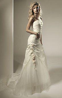 Garamaj  'Bronze'  strapless silk bridal gown sample Silk Taffeta, Swedish Design, Wedding Dresses For Sale, Simple Shapes, Blush Color, Bridal Gowns, One Shoulder Wedding Dress, Tulle, Mermaid Wedding