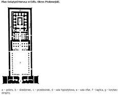 Świątynia Horusa w Edfu - plan
