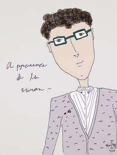 """Apparence de la raison.-"" Sebas 23/11 '14 //  #fashiondesign #design #bamboopaper #fashion  #moda #desenho #illustraçao #illustration"