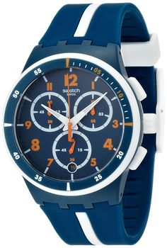 Swatch Whitespeed Blue Dial Chronograph Unisex Watch SUSN403