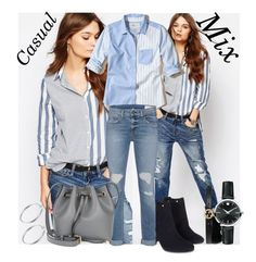 """Casual Mix"" by krystalkm-7 ❤ liked on Polyvore featuring Hollister Co., Gucci, Movado, Sterling Essentials, Monsoon, rag & bone and Coccinelle"