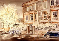 Miles Thistlethwaite, Autumn Winds at Tudor Mansions Tudor, Houses, Autumn, Mansions, Homes, Fall Season, Manor Houses, Villas, Fall
